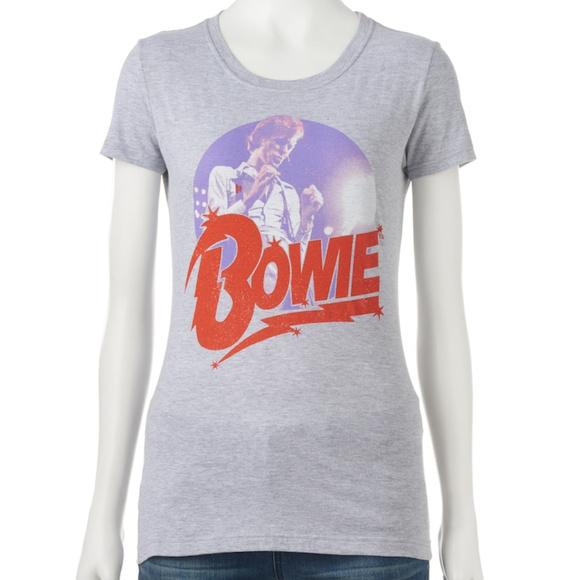 0f1a1f0656 NEW Gray David Bowie Tee Shirt